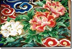 ぼたん 社寺胴羽目彩色彫刻