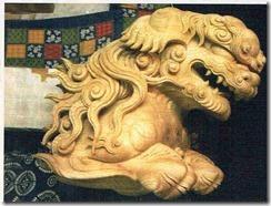 獅子 社寺彫刻獅子